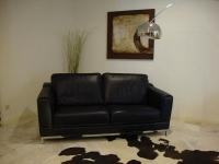 C137 Δερμάτινος καναπές